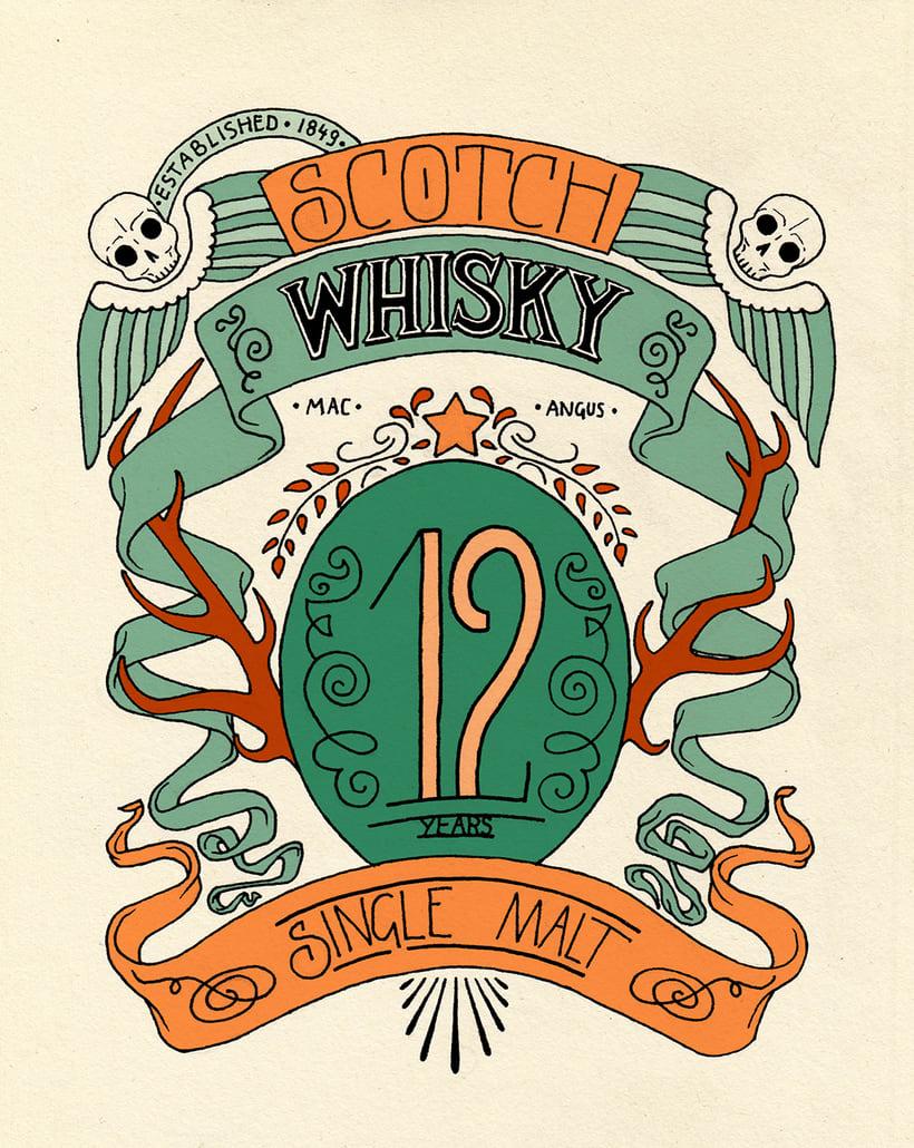Scotch Whisky label 1