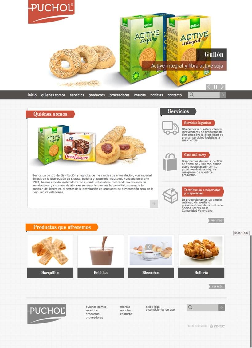 Web corporativa comercialpuchol.es -1