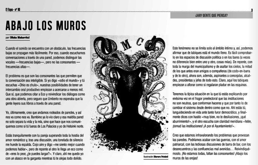 Ilustración para EL TOPO nº 10 0