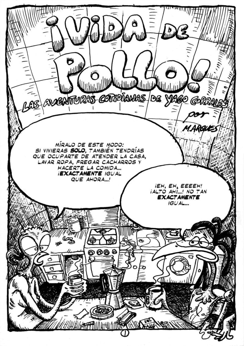 """Cómic """"¡Vida de Pollo!"""" de pág. 1 a la 11 1"""