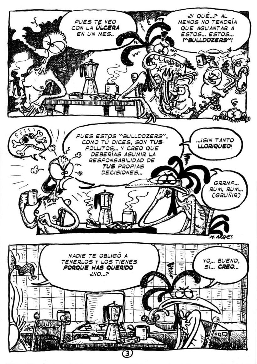 """Cómic """"¡Vida de Pollo!"""" de pág. 1 a la 11 3"""