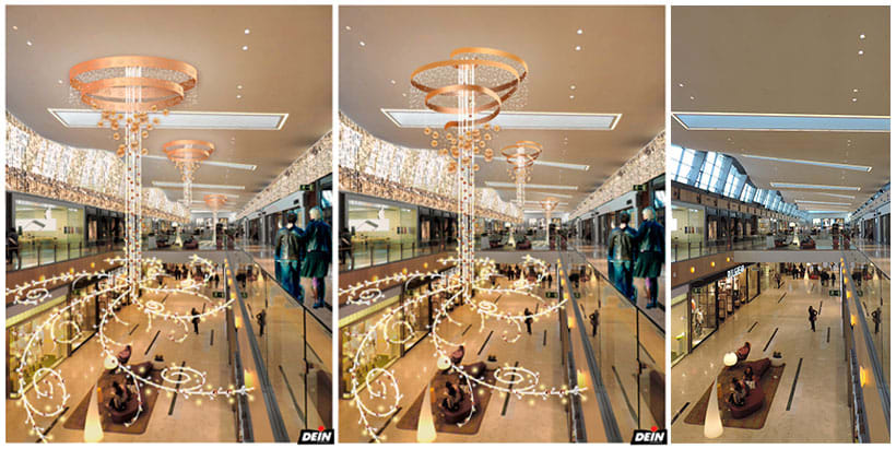 Retoque fotográfico y creación de prototipos para proyectos de decoración navideña en centros comerciales 1