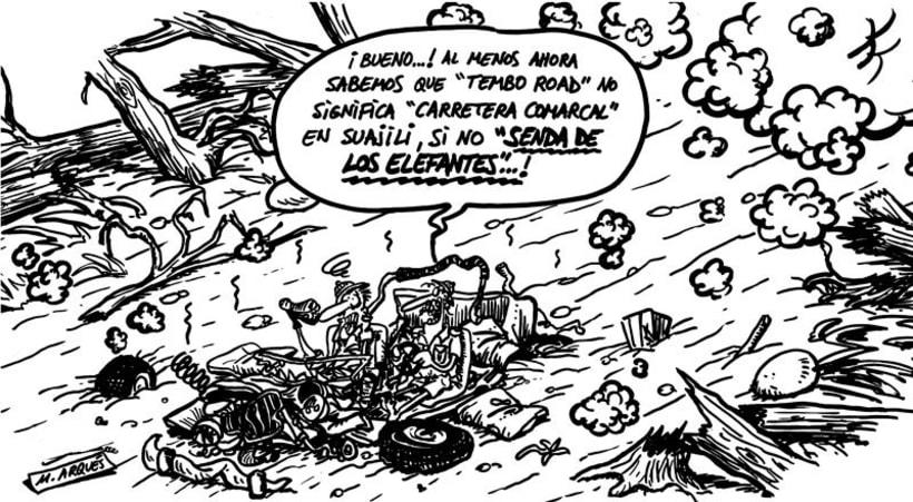 """Viñeta """"Senda de los elefantes"""" -1"""