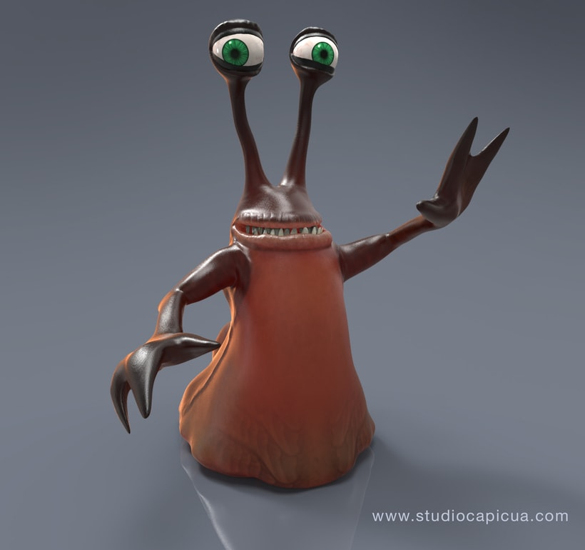 Character Design Alien Slug 1