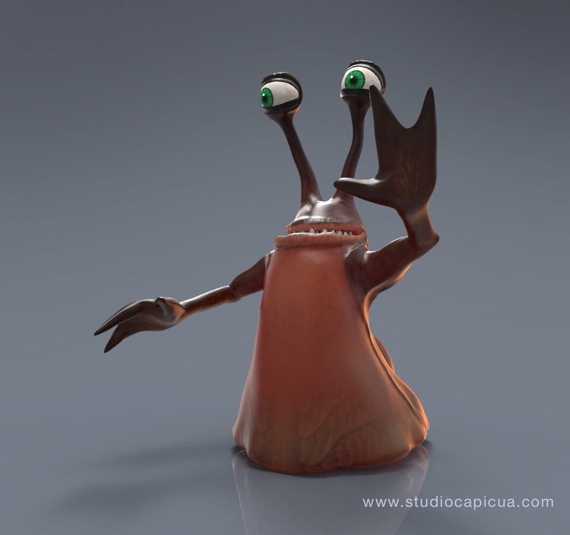 Character Design Alien Slug 2