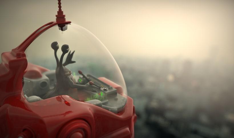 Un robot y un alienigena conductor 2