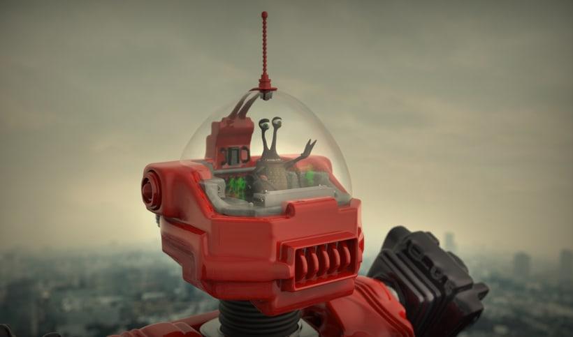 Un robot y un alienigena conductor 3