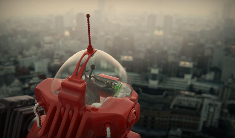 Un robot y un alienigena conductor 4