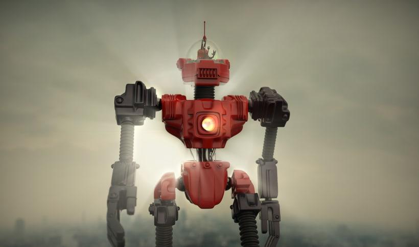 Un robot y un alienigena conductor 5