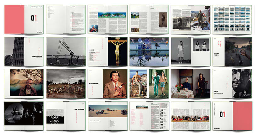 bodegón dobles páginas de libros de fotografia