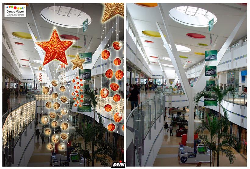 Retoque fotográfico y creación de prototipos para proyectos de decoración navideña en centros comerciales 8