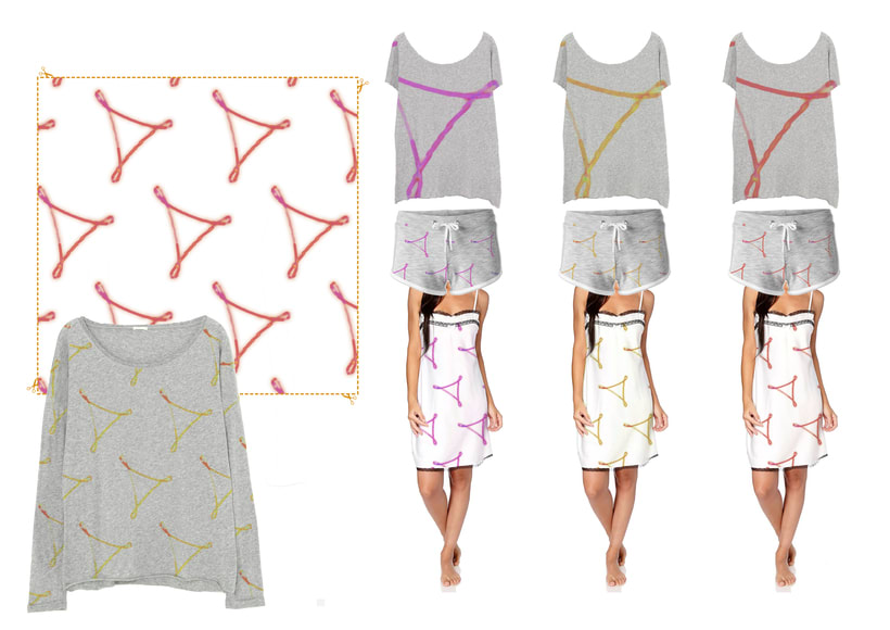 estampado, línea de pijamas 0