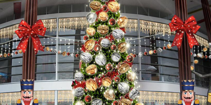 Retoque fotográfico y creación de prototipos para proyectos de decoración navideña en centros comerciales 5
