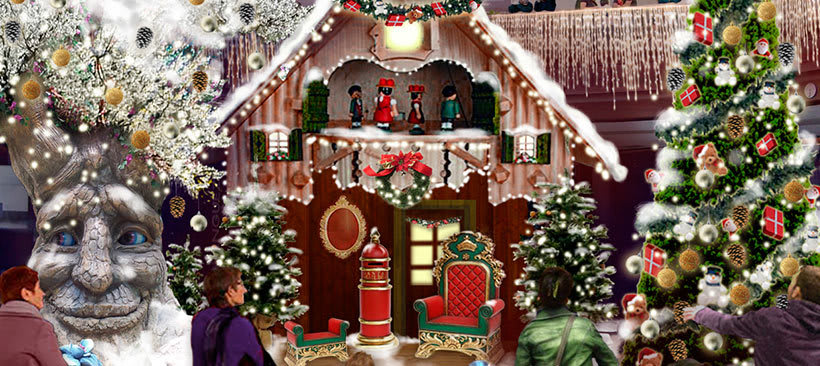 Retoque fotográfico y creación de prototipos para proyectos de decoración navideña en centros comerciales 32