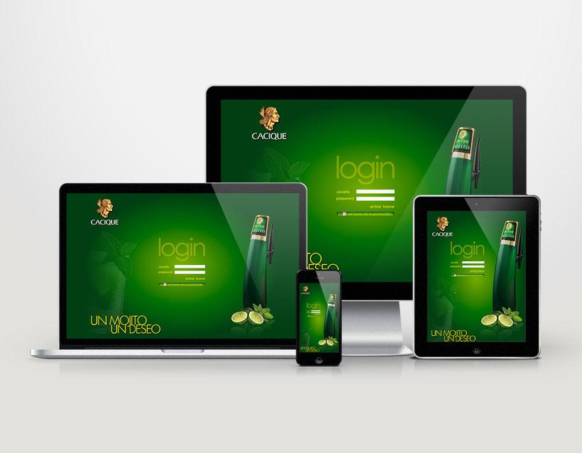 Diseño tarjeta promocional & interfaz web para intranet 2
