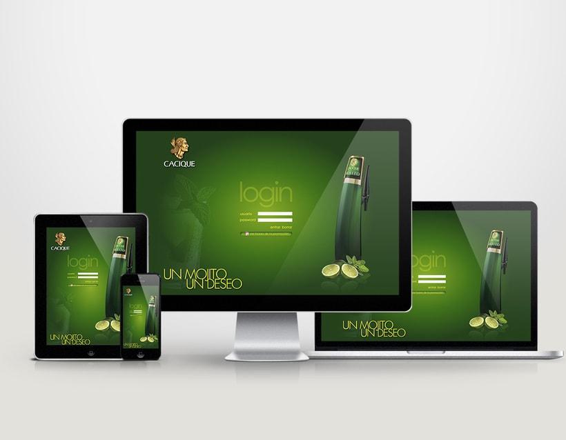 Diseño tarjeta promocional & interfaz web para intranet 4