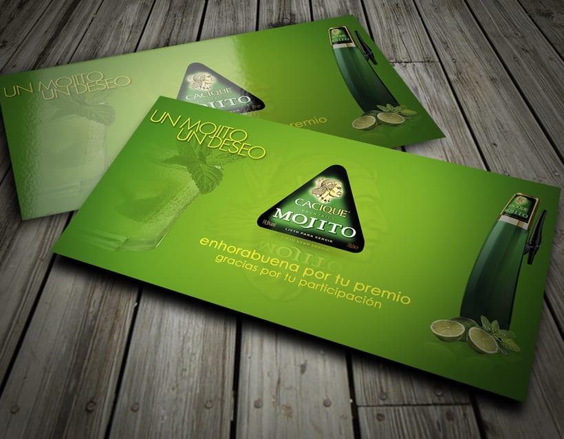 Diseño tarjeta promocional & interfaz web para intranet 0
