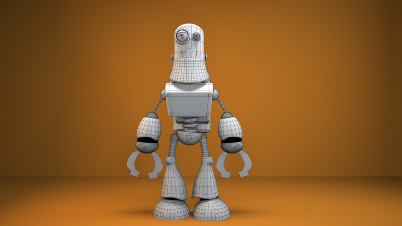 """Model 3D  robot """"R360"""" 1"""