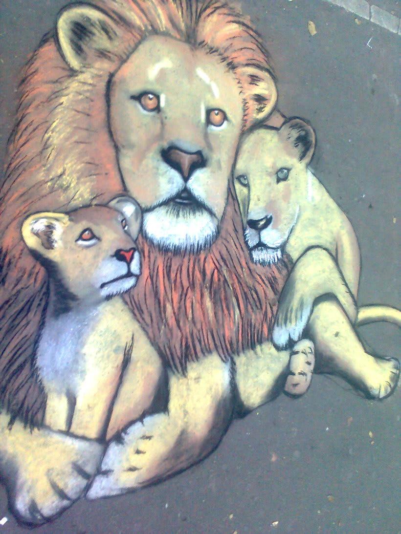 Familia de leones  -1