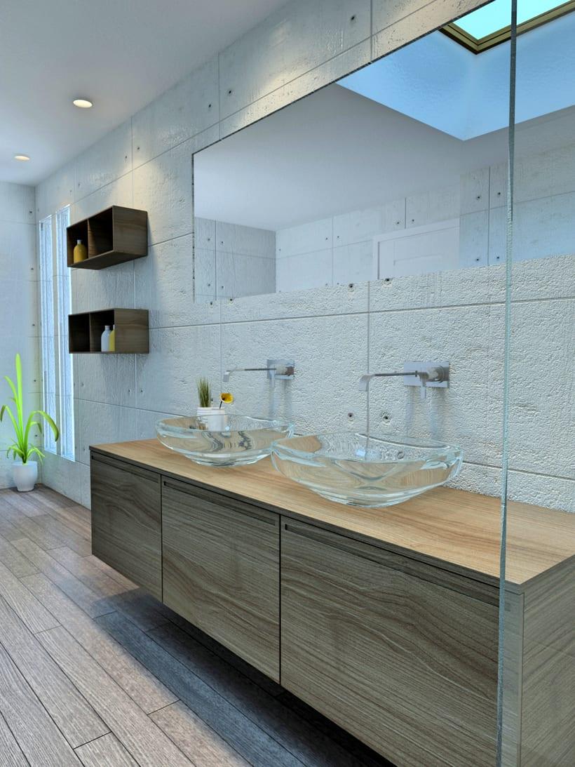 Baño con Lucernario, Pozuelo de Alarcón / Diseño de Interiores 1