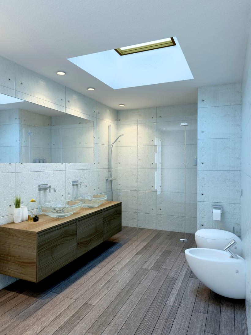 Baño con Lucernario, Pozuelo de Alarcón / Diseño de Interiores 0