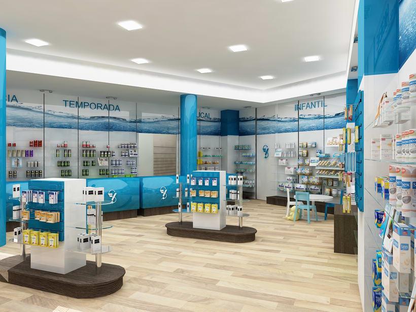 Farmacia H2O, Barcelona / Diseño de Interiores -1