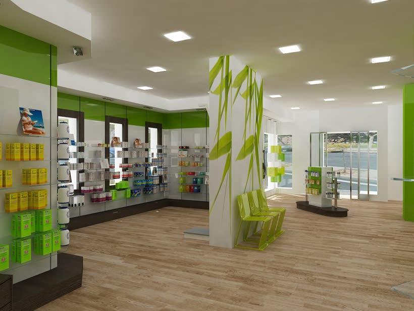Farmacia bambu fuenlabrada dise o de interiores domestika - App diseno de interiores ...