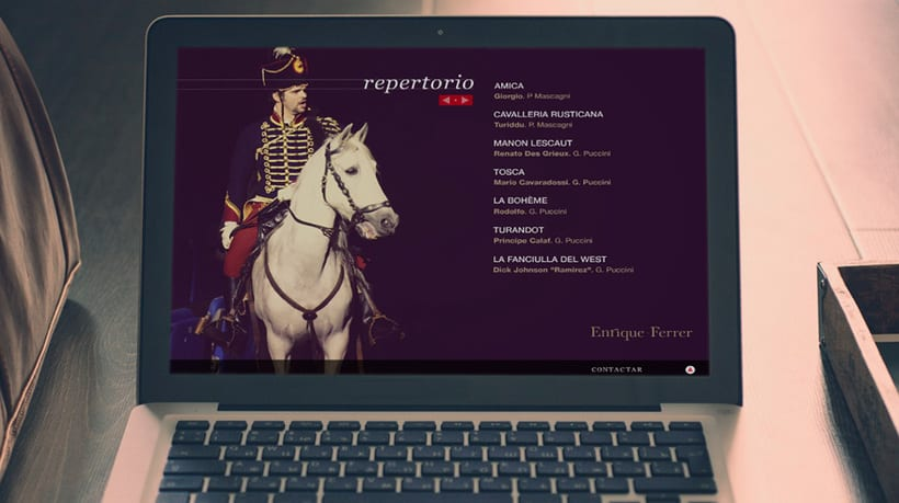 Diseño Website para el tenor Enrique Ferrer 0