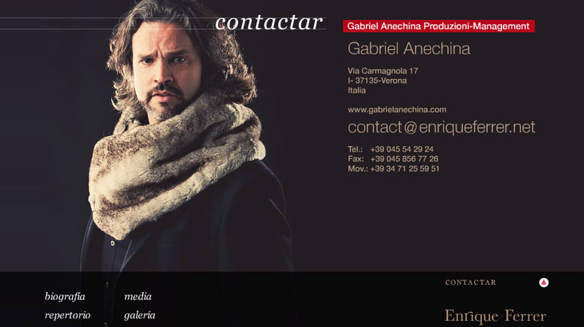Diseño Website para el tenor Enrique Ferrer 1