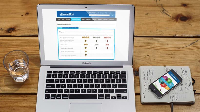 Diseño Website Premios a la Eficacia 0