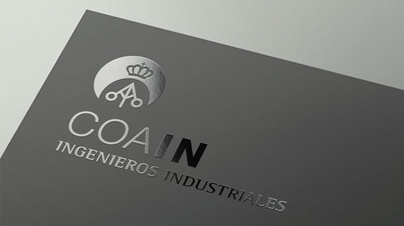 Imagen Corporativa para el COAIN (Colegio Oficial y Asociación de Ingenieros Industriales de Madrid) -1