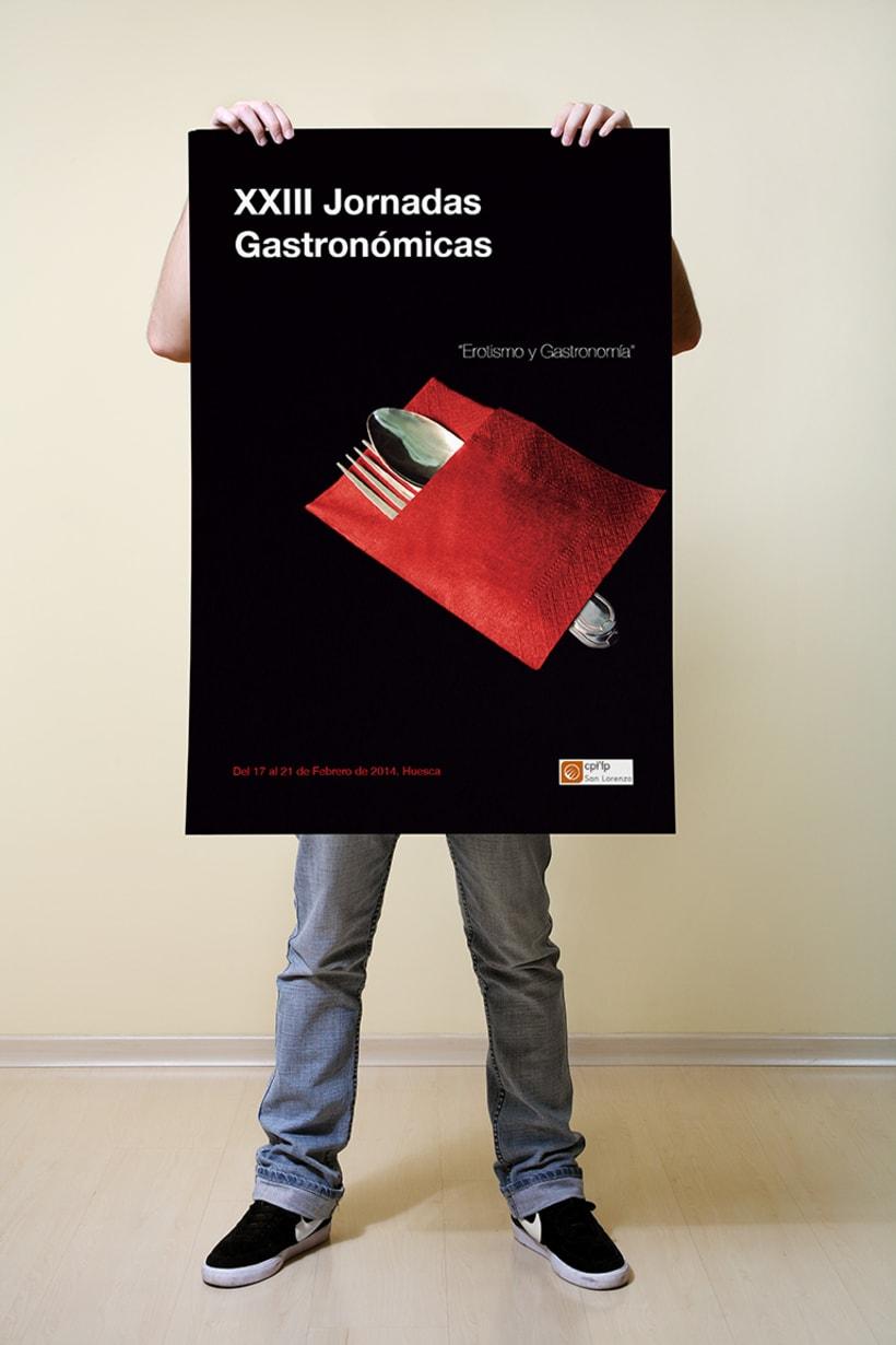 Propuesta para el cartel de las XXIII Jornadas gastronómicas de la escuela de hostelería y turismo San Lorenzo  0