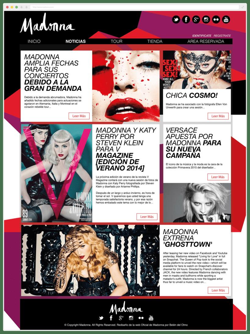 Rediseño Página Web Madonna / Diseño Web 0