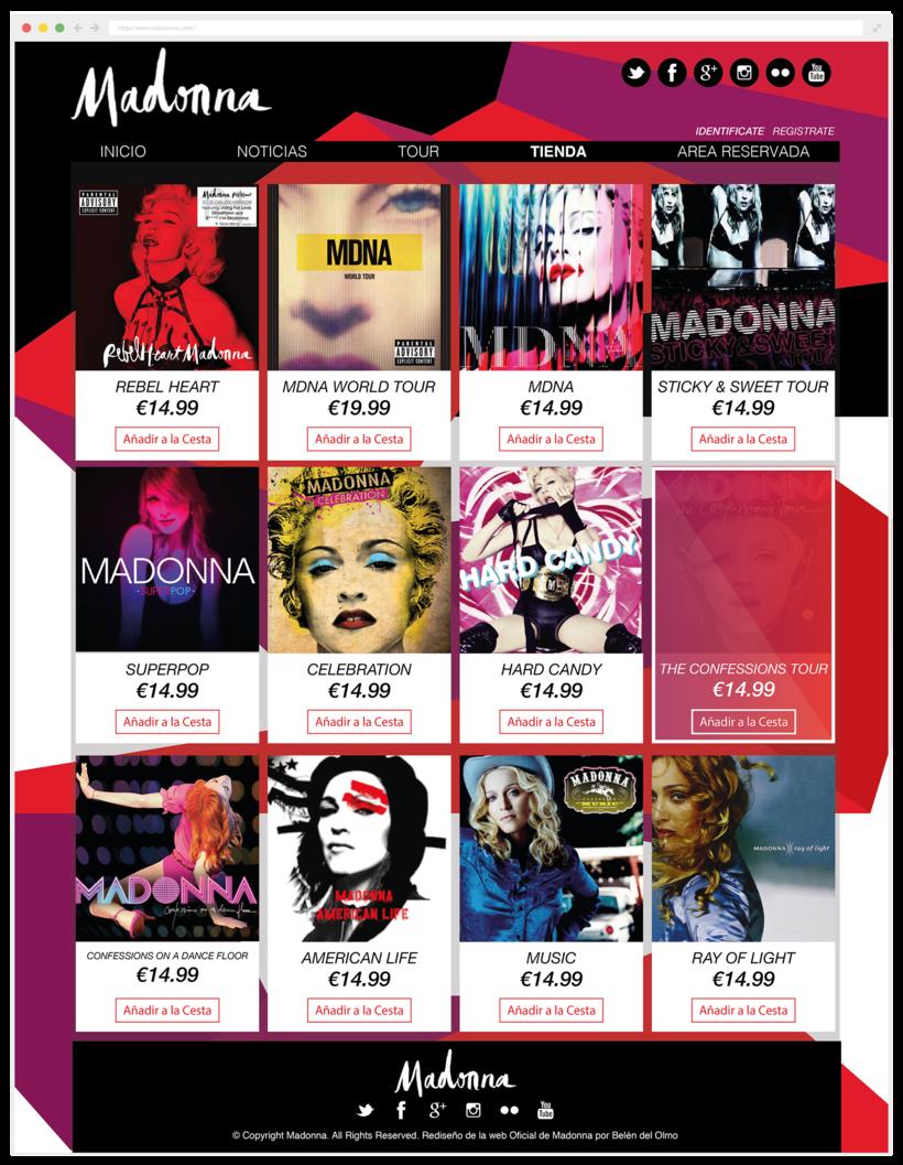 Rediseño Página Web Madonna / Diseño Web 2