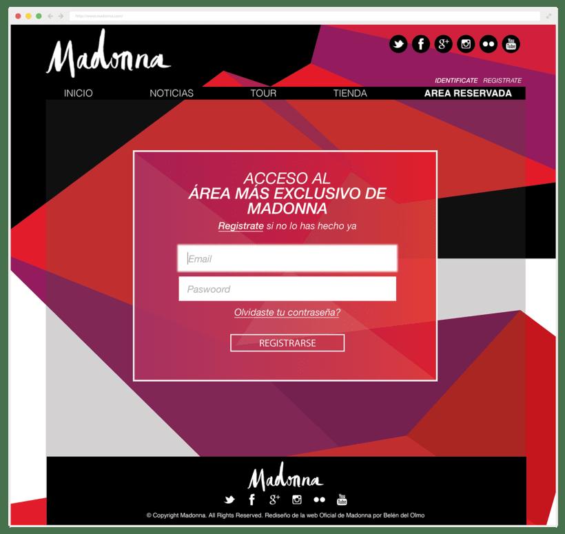 Rediseño Página Web Madonna / Diseño Web 3