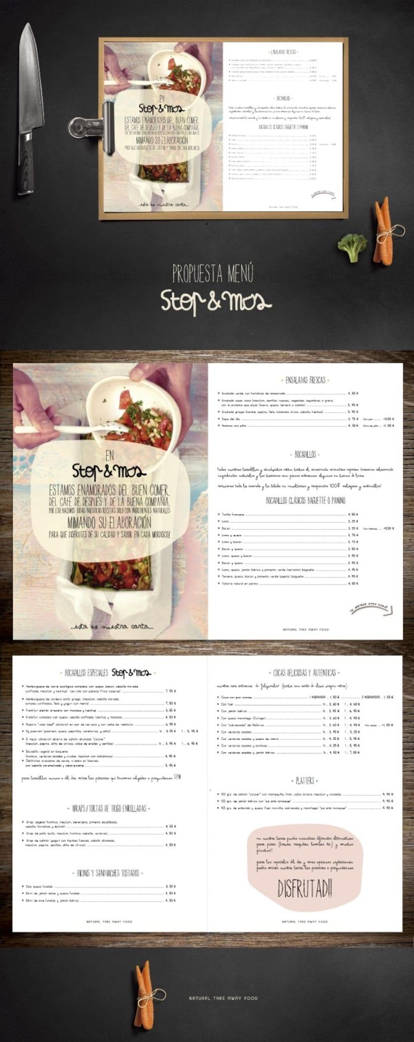 Diseño Menú Restaurante STOP & MOS -1