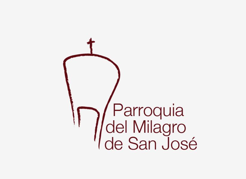 Diseño de Logotipo, Web y folletos - Parroquia El Milagro de San José 1