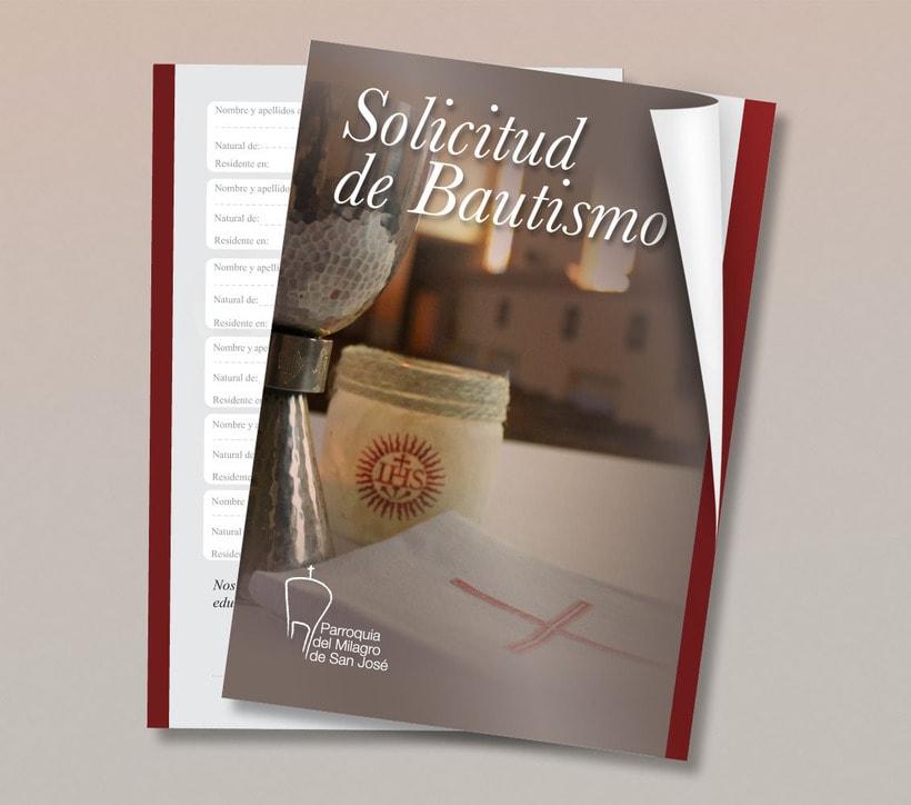 Diseño de Logotipo, Web y folletos - Parroquia El Milagro de San José 11