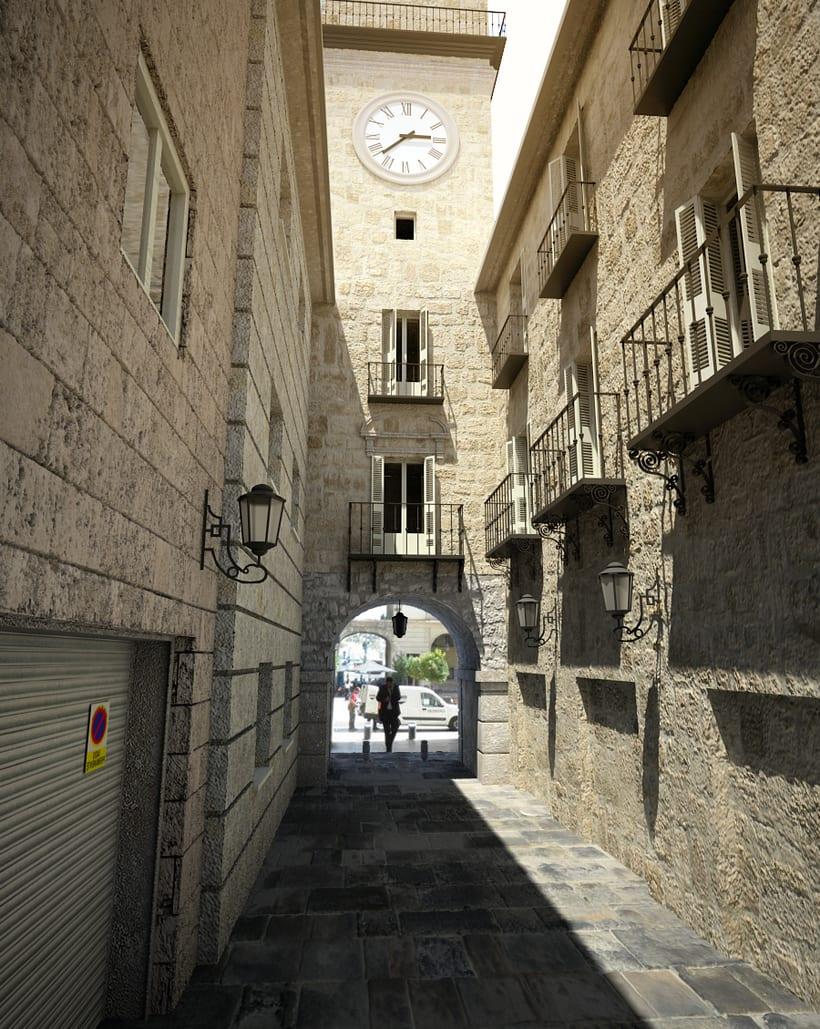 3D Calle exterior 1