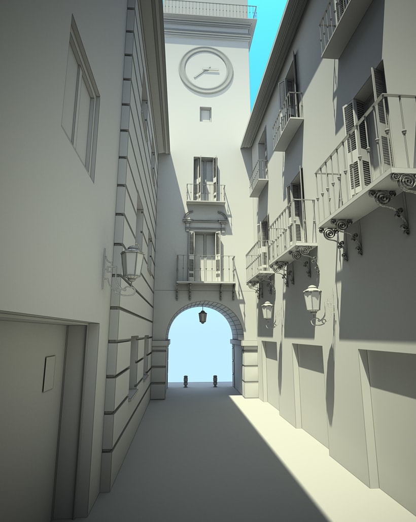 3D Calle exterior 2