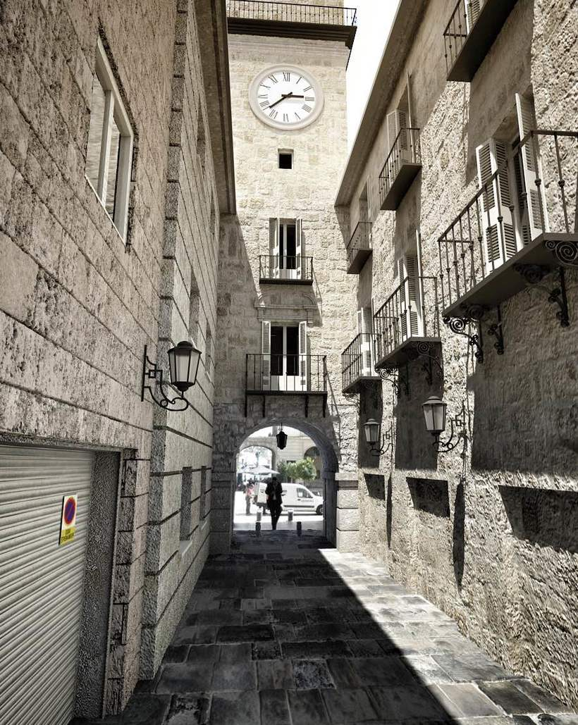 3D Calle exterior 3