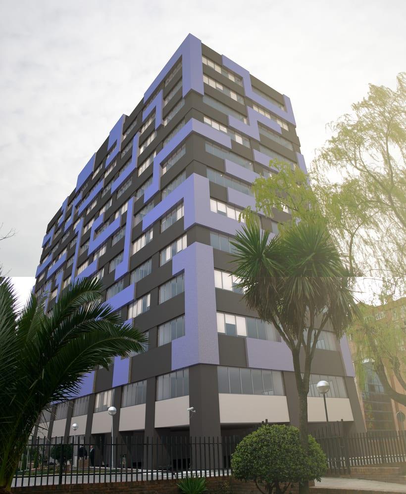 3D Proyecto modificación fachada 5