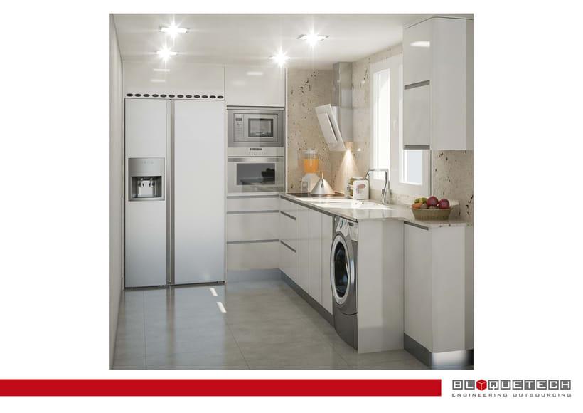Dise o de cocina en 3d 3d domestika - Diseno cocina 3d ...