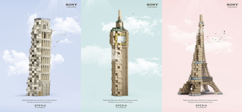 Pixelated Landmarks - Sony 1