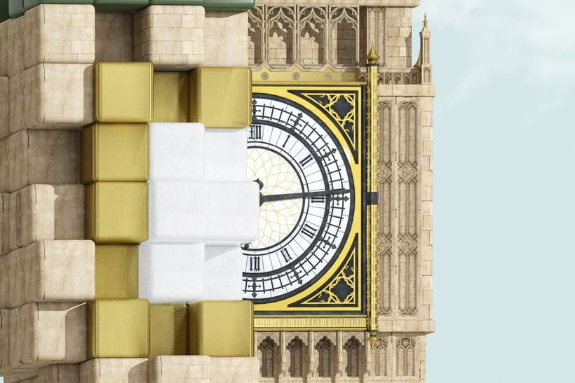 Pixelated Landmarks - Sony 2