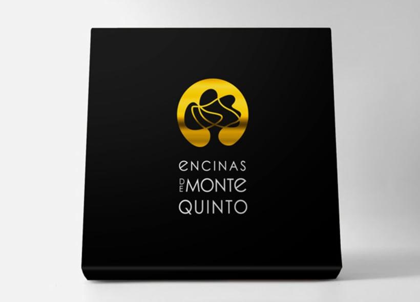 Diseño de logotipo para Encinas de Montequinto, una empresa distribuidora de aceite de oliva virgen extra ubicada en la localidad jienense de Javalquinto. 7
