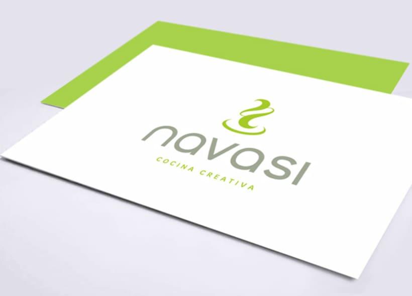 Logotipo para navasi un restaurante de cocina creativa for Cursos de cocina en alicante