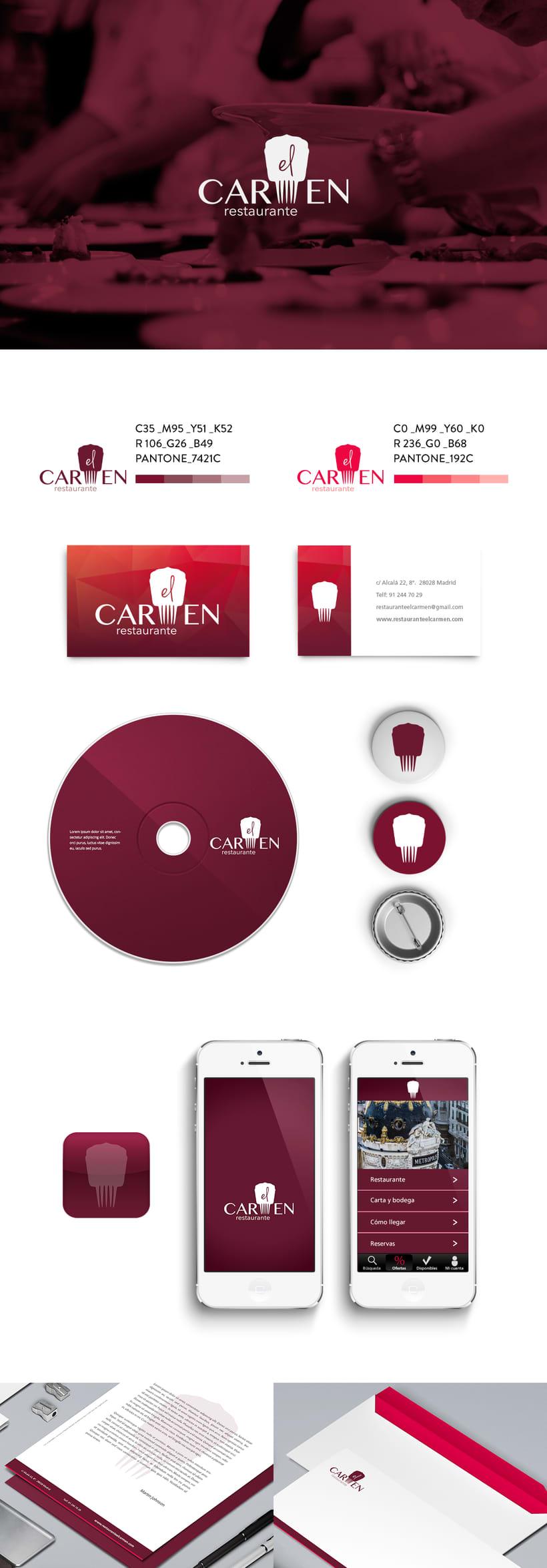 """Identidad Corporativa y website responsive """"El Carmen"""" (restaurante) 0"""