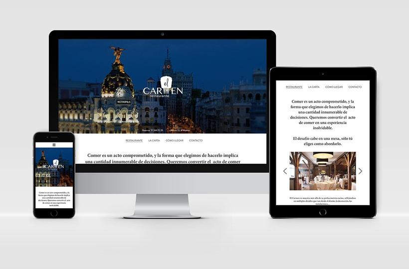 """Identidad Corporativa y website responsive """"El Carmen"""" (restaurante) 3"""