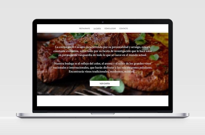 """Identidad Corporativa y website responsive """"El Carmen"""" (restaurante) 5"""
